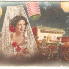 Postales: CHURRERIA, Y HORGANILLO EN FIESTAS, SIN CIRCULAR. Lote 100457143