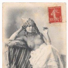 Postales: POSTAL MUJER ÁRABE DESNUDA 1910-1920S MANUSCRITA Y CON SELLO. Lote 100538195
