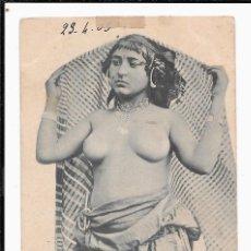 Postales: POSTAL MUJER ÁRABE DESNUDA 1910-1920S MANUSCRITA Y CON SELLO. Lote 100539915