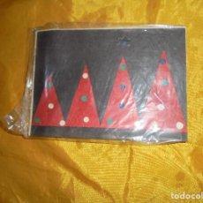 Postales: POSTAL TIBETANA . ARBOLES DE NAVIDAD . HECHA A MANO EN PAPEL DE ARROZ. CON SOBRE. 14 X 12 CM . Lote 100755059