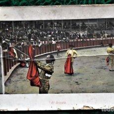 Postales: CORRIDA DE TOROS. E. RAMOS. USADA. VER FOTO POR MAL ESTADO.. Lote 105137007