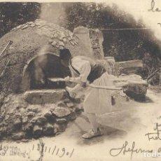 Cartoline: POSTAL HORNO DE PAN EN MURCIA. COL. CÁNOVAS, SERIE F, 5. 1901.. Lote 111957551