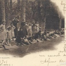 Postales: POSTAL LAVADERO PÚBLICO (ALICANTE). COL. CÁNOVAS, SERIE C, 5. 1901.. Lote 111962023