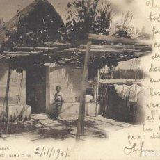 Postales: POSTAL BARRACAS MURCIANAS. COL. CÁNOVAS, SERIE C, 10. 1901.. Lote 111963835
