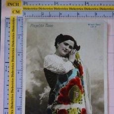Postales: POSTAL TIPISMO ESPAÑOL. FECHADA AÑO 1910. MUJER ANGELITA EASO ARTISTA FOLKLÓRICA CUPLETISTA 573. Lote 113293307
