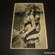 Postales: GUINEA MUJER Y NIÑO POSTAL ETNICA 1934. Lote 128770151