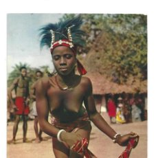 Postales: COSTA DE MARFIL.- Nº 3217, AFRIQUE EN COULEURS. LA DANSEUSE AU MOUCHOIR. ÁFRICA- SIN CIRCULAR . Lote 128989787