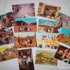 Postales: 16 POSTALES INDIOS AMERICANOS Y OESTE, NUEVAS.. Lote 131010204