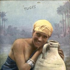 Postales: MUJER EGIPCIA. COLOREADA – OLLETTE – CIRCULADA . Lote 132405854