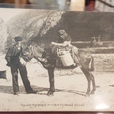 Postales: POSTAL ANTIGUA VENDEDORA DE LECHE PIRINEOS CARTE POSTAL ANCIENNE PYRENEES FRANCE. Lote 143647426
