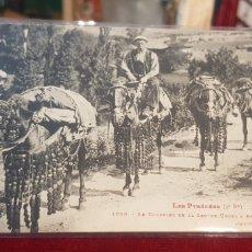 Postales: POSTAL PIRINEOS EL CORREO DE LA SEU DE URGELL A ANDORRA LA VELLA LES PYRINEES COURRIER. Lote 143647734