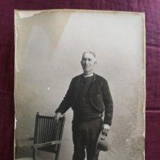 Postales: FOTO POSTAL- ANCIANO 76 AÑOS REGIONAL. FOTOGRAFO: CELEDONIO P. LOPEZ-MADRID AÑO 1910. Lote 148569650