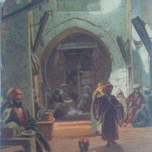 1922 Egipto. Bazar de Girgéh. Circulada