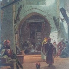 Postales: 1922 EGIPTO. BAZAR DE GIRGÉH. CIRCULADA. Lote 140120566