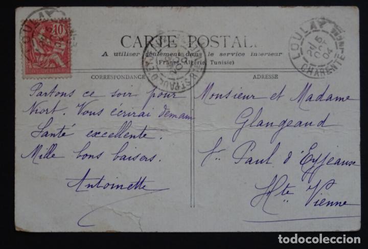Postales: Camellos y Dromedarios en el Sahara , postal circulada del año 1904 - Foto 2 - 150823586