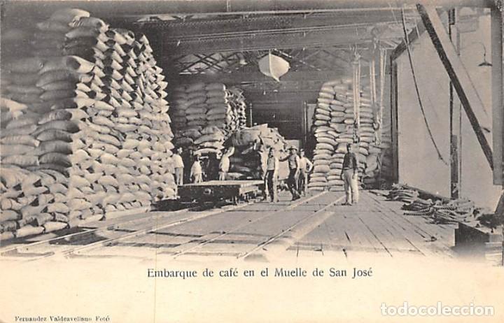 EMBARQUE DE CAFÉ EN EL MUELLE DE SAN JOSÉ (Postales - Postales Temáticas - Étnicas)