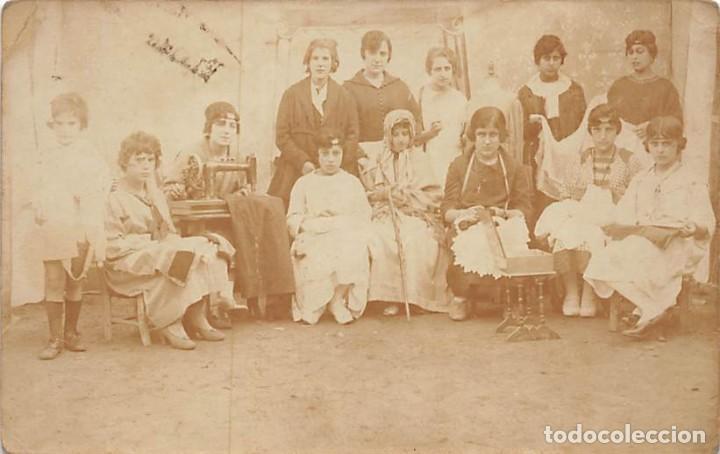 POSTAL FOTOGRÁFICA DE CLASE DE COSTURA (Postales - Postales Temáticas - Étnicas)