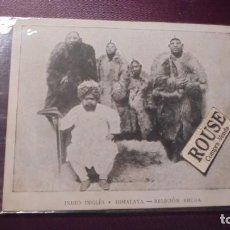Postales: ANTIGUO TARJETON - INDIO INGLES E HIMALAYA - RELIGION BHUDA - 13X10,5 CM. . Lote 151087314