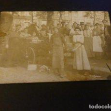 Postales: CHARLEROY BELGICA EMIGANTE DE ANDRATX MALLORCA CON PUESTO AMBULANTE DE VENTA POSTAL FOTOGRAFICA. Lote 155638274
