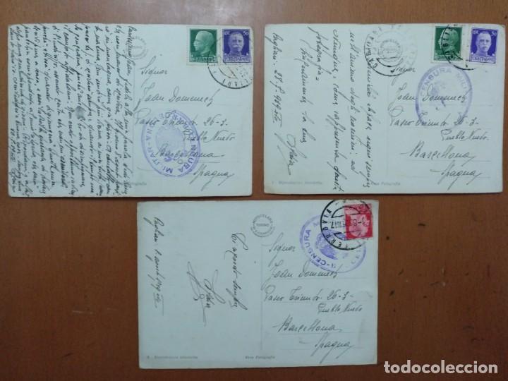 Postales: TRES POSTALES TEMA CAMPESTRE PASTOR CON OVEJAS 1939 CON SELLO CENSURA MILITAR BARCELONA - Foto 3 - 157341842