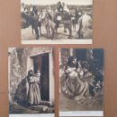 Postales: CONJUNTO DE 3 POSTALES ETNICAS (CERDEÑA-ITALIA) CIRCULADAS 1932-1939 NUORO COSTUMI. Lote 158025850