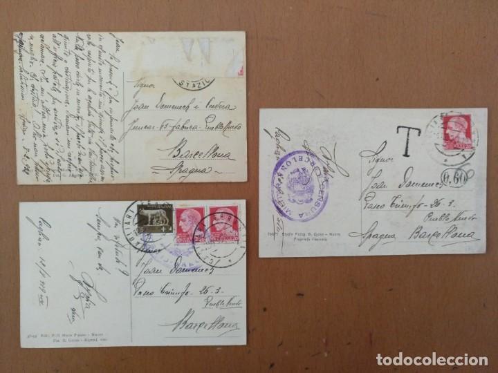 Postales: CONJUNTO DE 3 POSTALES ETNICAS (CERDEÑA-ITALIA) CIRCULADAS 1932-1939 NUORO COSTUMI - Foto 2 - 158025850