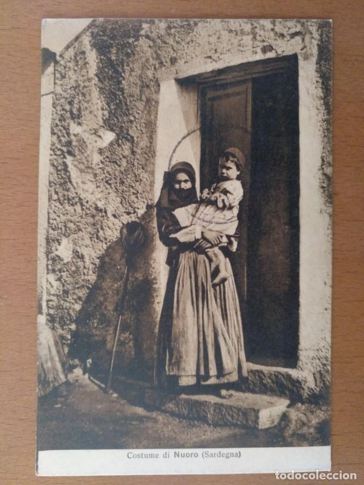 Postales: CONJUNTO DE 3 POSTALES ETNICAS (CERDEÑA-ITALIA) CIRCULADAS 1932-1939 NUORO COSTUMI - Foto 3 - 158025850