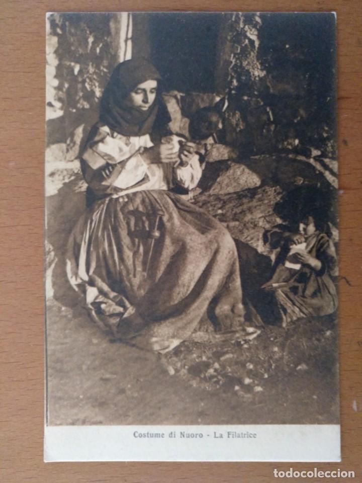 Postales: CONJUNTO DE 3 POSTALES ETNICAS (CERDEÑA-ITALIA) CIRCULADAS 1932-1939 NUORO COSTUMI - Foto 4 - 158025850