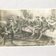 Postales: POSTAL FOTOGRÁFICA ÉTNICA DE LOS INDIOS BOTOCUDOS DE BRASIL. EST. ESPIRITU SANTO E MINAS. Lote 162673274