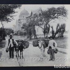 Postales: POSTAL BIARRITZ VENDEDORES ESPAÑOLES DE BOTIJOS ( ASNO BURRO ) . ND 122 . CA AÑO 1910. Lote 167156776