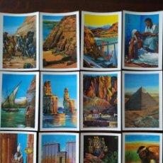 Postales: COLECCIÓN COMPLETA DE 24 POSTALES, CON REPRODUCCIONES DE DIBUJOS SOBRE LA CIVILIZACIÓN EGIPCIA.. Lote 170091244