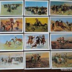 Postales: COLECCIÓN .24 POSTALES, REPRODUCCIONES DE DIBUJOS SOBRE LA HISTORIA DEL OESTE AMERICANO. Lote 170091608