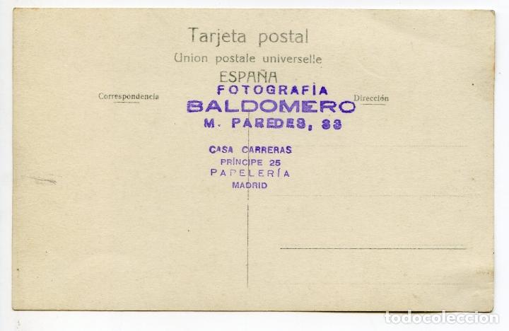 Postales: El torero Juan Belmonte, fotografía Baldomero, Madrid, postal fotográfica, toros, tauromaquia - Foto 2 - 171364929