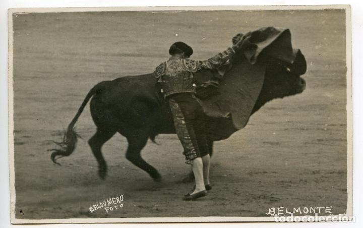 EL TORERO JUAN BELMONTE, FOTOGRAFÍA BALDOMERO, MADRID, POSTAL FOTOGRÁFICA, TOROS, TAUROMAQUIA (Postales - Postales Temáticas - Étnicas)