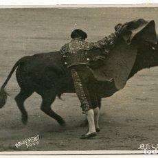 Postales: EL TORERO JUAN BELMONTE, FOTOGRAFÍA BALDOMERO, MADRID, POSTAL FOTOGRÁFICA, TOROS, TAUROMAQUIA . Lote 171364995