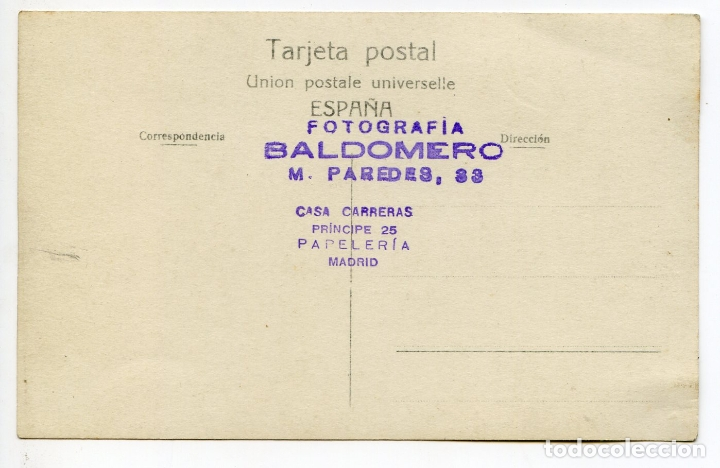 Postales: El torero Juan Belmonte, fotografía Baldomero, Madrid, postal fotográfica, toros, tauromaquia - Foto 2 - 171365092