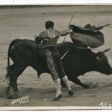 Postales: EL TORERO JUAN BELMONTE, FOTOGRAFÍA BALDOMERO, MADRID, POSTAL FOTOGRÁFICA, TOROS, TAUROMAQUIA . Lote 171365092