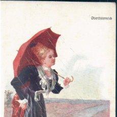 Postales: POSTAL MUJER CON TRAJE DE LA ALTA AUSTRIA - OBEROSTERREICH - BKW I 547 15. Lote 172097573