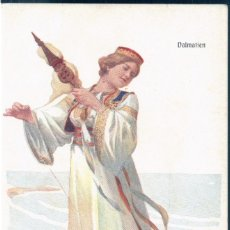 Postales: POSTAL MUJER CON TRAJE DALMATIEN - CROACIA - BKW I 547 3. Lote 172141358