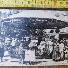 Postales: REPRODUCCIÓN DE POSTAL FRANCESA DE TIOVIVO DE CABALLOS ILLE DE FRANCE, PARIS Nº20. Lote 176144769