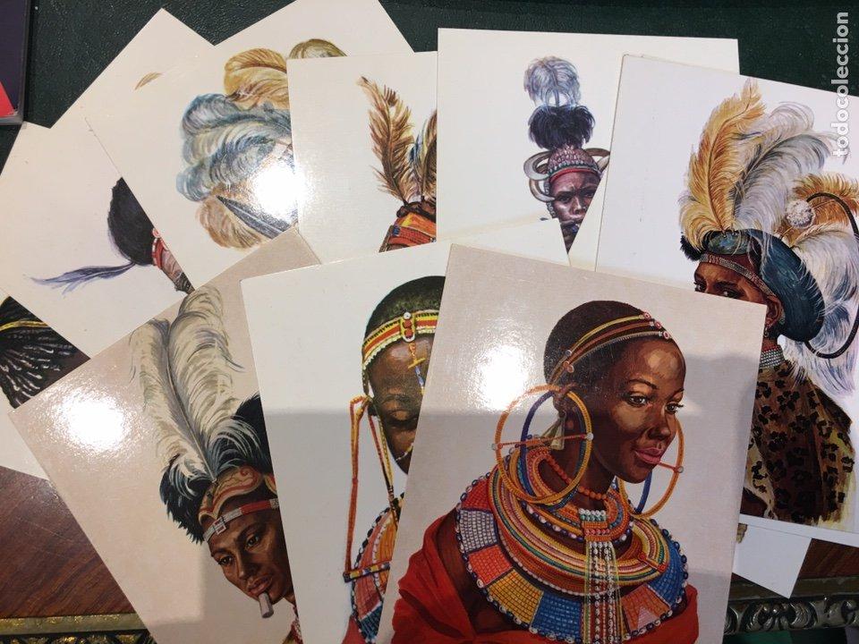 LOTE POSTALES TRIBUS AFRICA (Postales - Postales Temáticas - Étnicas)