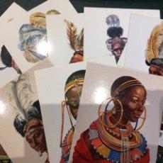 Postales: LOTE POSTALES TRIBUS AFRICA. Lote 177648257