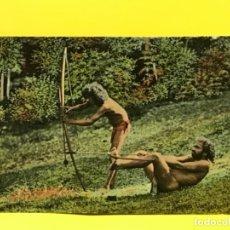 Postales: INDIGENAS POSTAL COLOREADA NATIVOS ARCO FLECHAS SRI LANKA INDIOS CELYLAN SIN CIRCULAR. Lote 178088582