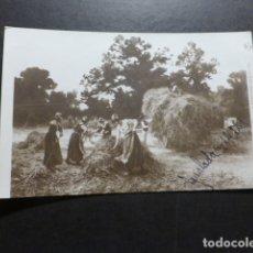 Postales: ESCENA CAMPESTRE MUJERES RECOGIENDO HIERBA POSTAL. Lote 178239816