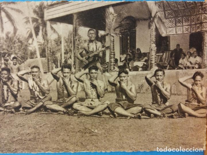 MISSIONS MARISTES D'OCÉANIE. DANSE D'HOMMES AUX SAMOA. USADA (Postales - Postales Temáticas - Étnicas)