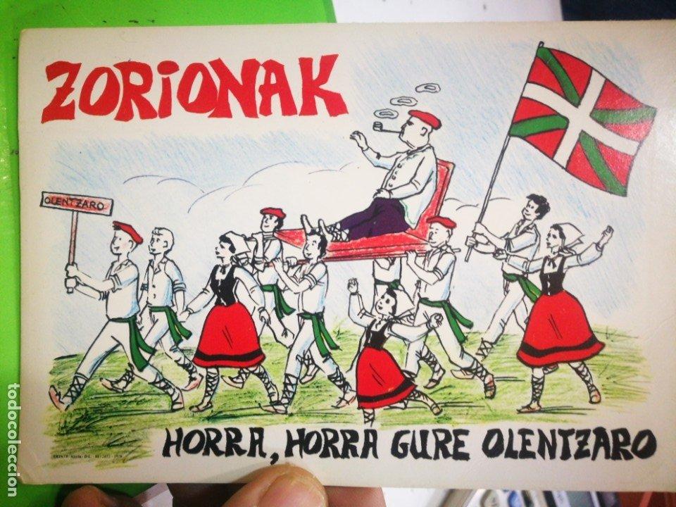 POSTAL ZORIONAK HORRA,HORRA GURE OLENTZARO (Postales - Postales Temáticas - Étnicas)