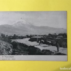Postales: ANTIGUA POSTAL MEXICO EL POPOCATEPELT MONTAÑA INDIGENAS FOTO LATAPI Y BERT . Lote 182197170