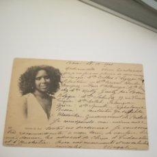 Postales: ARGELIA 1901. FEMINE DU SUD. BONE (CONSTANTINE, DEPARTAMENTO DE FRANCIA EN ARGELIA). BUEN FRANQUEO.. Lote 182198497