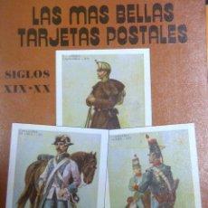 Postales: LIBRO DE POSTALES DE MILITARES DE EPOCA. Lote 183182741