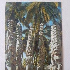 Postales: IDOLOS NATIVOS HONOLULU HAWAI POSTAL. Lote 183464877